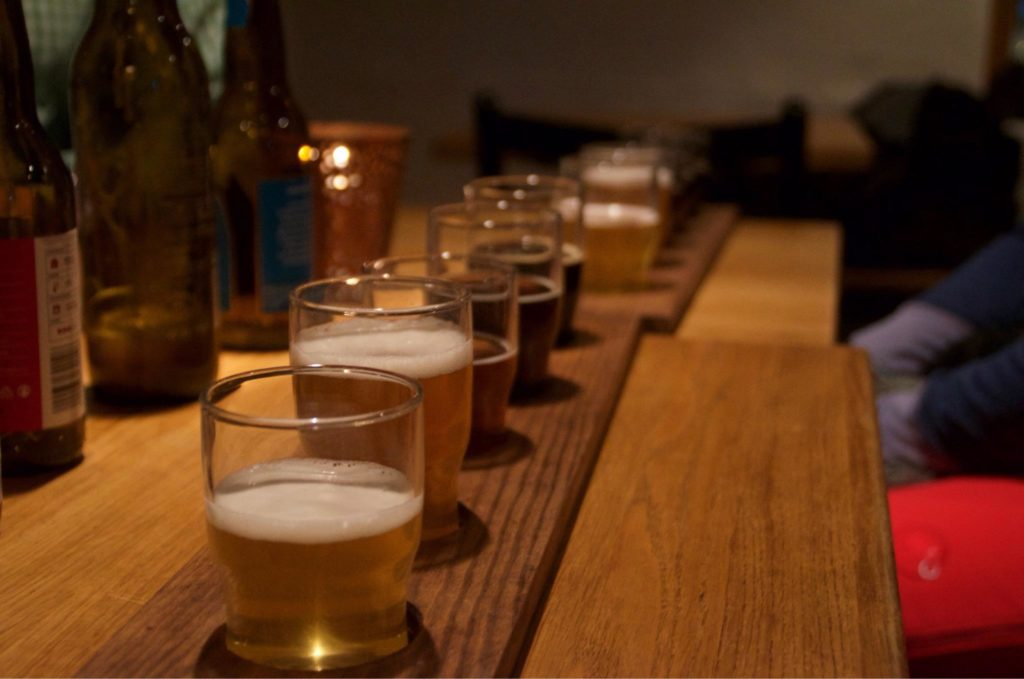 Beer samples - a great way of tasting many different beers in one sitting.